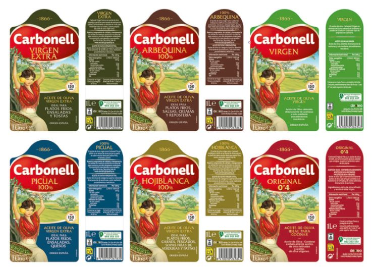 etiquetado aceite de oliva